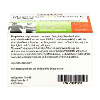 Magnesium Und Vitamin E ratiopharm Kapseln  bei juvalis.de bestellen