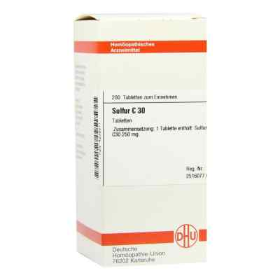 Sulfur C30 Tabletten  bei juvalis.de bestellen