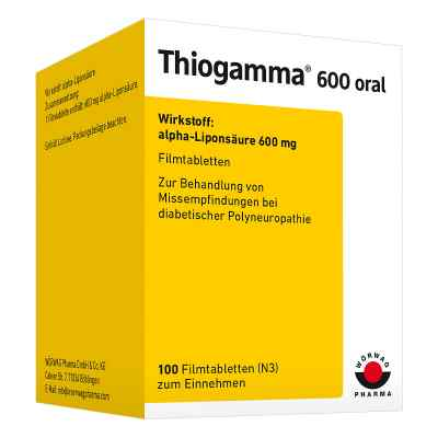 Thiogamma 600 oral  bei juvalis.de bestellen