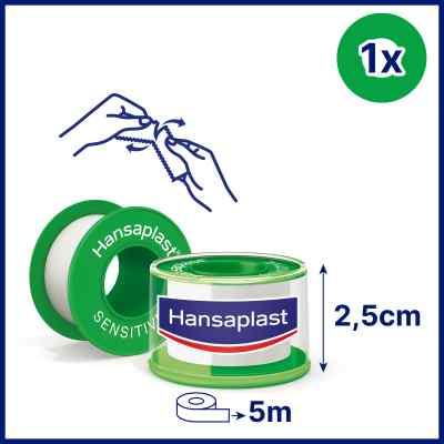 Hansaplast Fixierpflaster sensitive 5mx2,5cm  bei juvalis.de bestellen