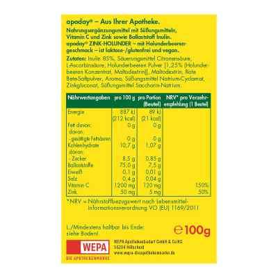 Apoday Holunder Vitamin C+zink ohne Zucker Pulver  bei juvalis.de bestellen