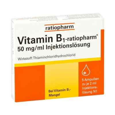 Vitamin B1 ratiopharm 50mg/ml iniecto lsg. Ampullen  bei juvalis.de bestellen