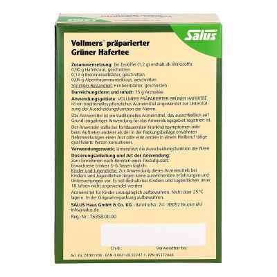 Vollmers präparierter Grüner Hafertee  bei juvalis.de bestellen