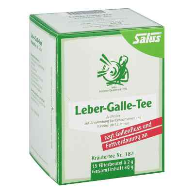 Leber Galle-tee Kräutertee Nummer 1 8a Salus Filterb.  bei juvalis.de bestellen