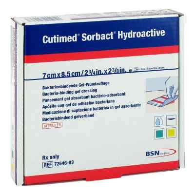 Cutimed Sorbact Hydroactive Kompressen 7x8,5 cm  bei juvalis.de bestellen