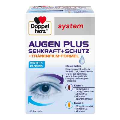 Doppelherz Augen plus Sehkraft+Schutz System Kaps.  bei juvalis.de bestellen