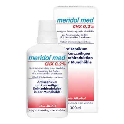 Meridol med CHX 0,2% Lösung zur Anwendung in der Mundhöhle  bei juvalis.de bestellen