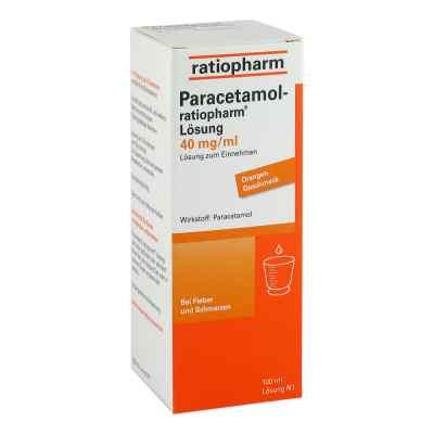 Paracetamol ratiopharm 40mg/ml Lösung zum Einnehmen  bei juvalis.de bestellen