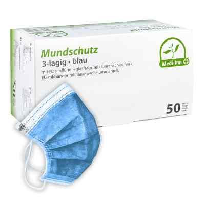 Medi Inn Mundschutz Maske mit Bändern blau  bei juvalis.de bestellen