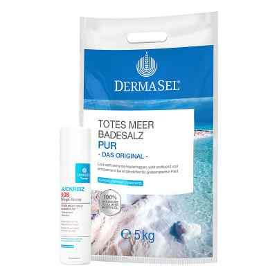 Dermasel Totes Meer Badesalz Pur mit GRATIS 1x Dermasel Therapie  bei juvalis.de bestellen