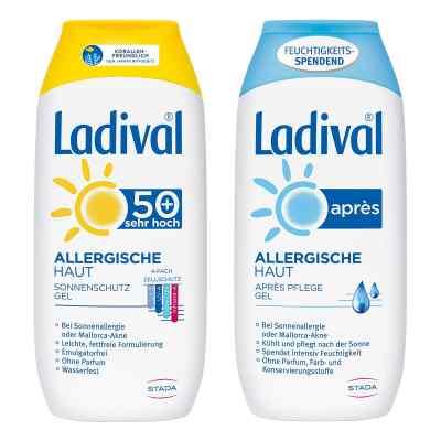 Ladival allergische Haut Gel LSF 50 und Apres Gel  bei juvalis.de bestellen