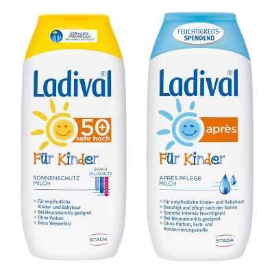 Ladival Kinder Sonnenmilch Lsf 50 und Apres Lotion  bei juvalis.de bestellen