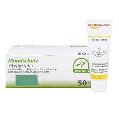 Mundschutz Maske und Hände-Desinfektionsgel  bei juvalis.de bestellen
