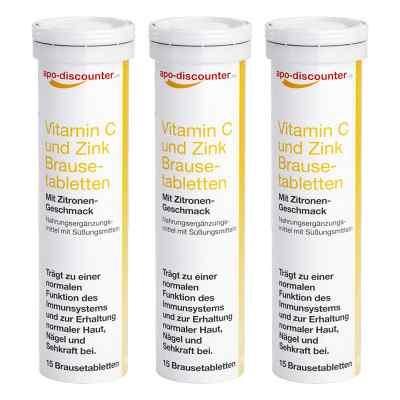 Vitamin C und Zink Brausetabletten von apo-discounter  bei juvalis.de bestellen