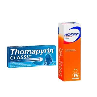 Aktionspaket - Mucosolvan Hustensaft und Thomapyrin CLASSIC  bei juvalis.de bestellen