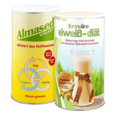 Almased Vitalkost und Formoline Eiweiss Diät Pulver  bei juvalis.de bestellen