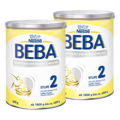 Nestle Beba Frühgeborenen Nahrung Stufe 2 2er Paket  bei juvalis.de bestellen