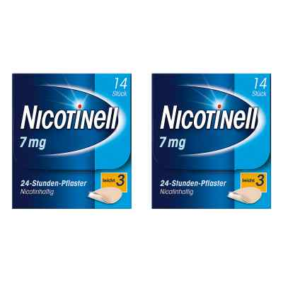Nicotinell Paket 7 mg (ehemals 17,5 mg) 24-Stunden-Pflaster  bei juvalis.de bestellen