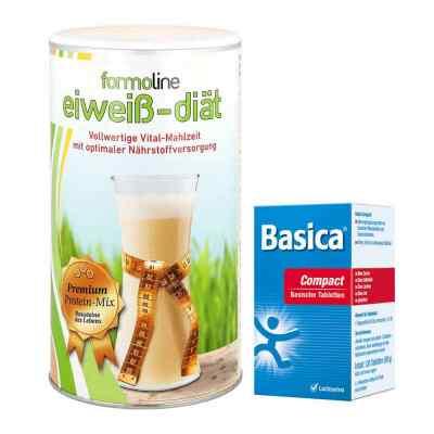Paket Formoline Eiweiss-Diät Pulver (480 g) + Basica compact Tab  bei juvalis.de bestellen