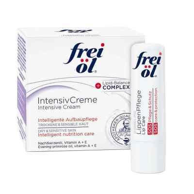 Frei Öl Intensivcreme (50 ml) + Frei Öl Lippenpflege gratis  bei juvalis.de bestellen