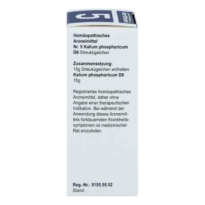 Biochemie Globuli 5 Kalium phosphoricum D6  bei juvalis.de bestellen