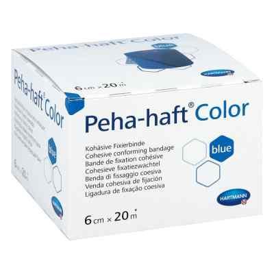 Peha Haft Color Fixierbinde latexf.6 cmx20 m blau  bei juvalis.de bestellen