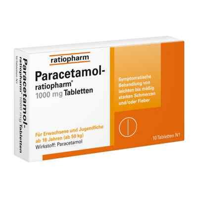 Paracetamol ratiopharm 1000mg  bei juvalis.de bestellen