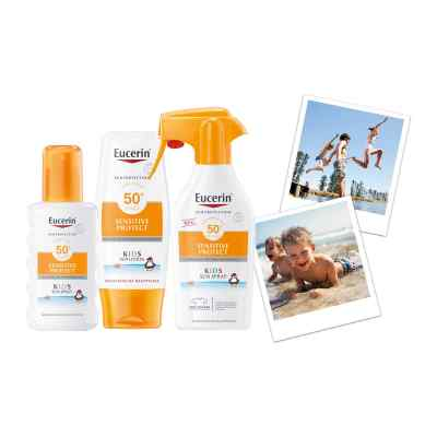 Eucerin Sun Sensitive Protect Kids Sun Spray LSF 50+  bei juvalis.de bestellen