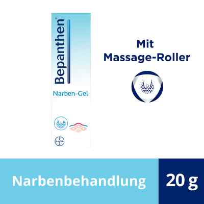 Bepanthen Narben-gel mit Massage-roller  bei juvalis.de bestellen