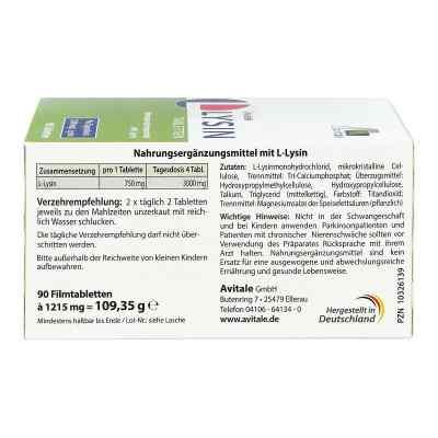 L-lysin 750 mg Tabletten  bei juvalis.de bestellen