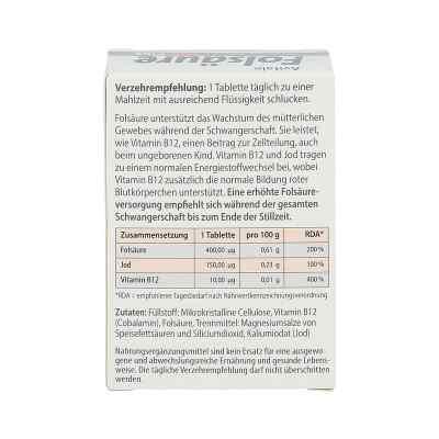 Folsäure 400 Plus B12+jod Tabletten  bei juvalis.de bestellen