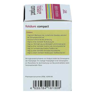Folsäure Compact Bio Tabletten  bei juvalis.de bestellen