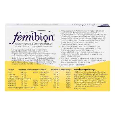 Femibion Schwangerschaft 1 D3+800 [my]g Folat Tabl  bei juvalis.de bestellen