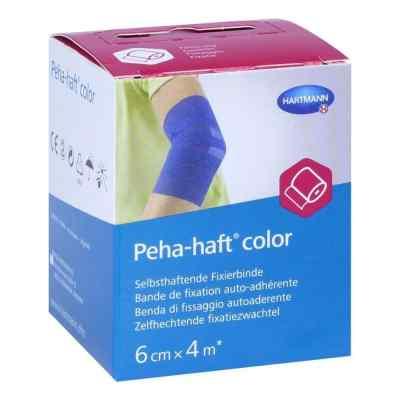 Peha-haft Color Fixierbinde latexf.6 cmx4 m blau  bei juvalis.de bestellen