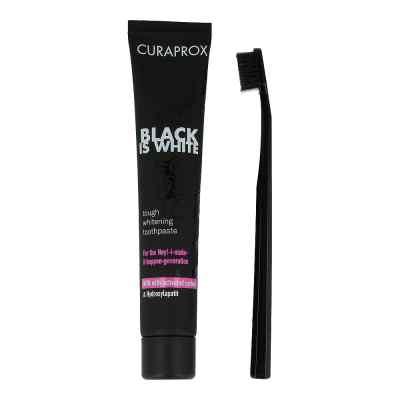 Curaprox Black is White Kohlezahnpasta und Bürste  bei juvalis.de bestellen