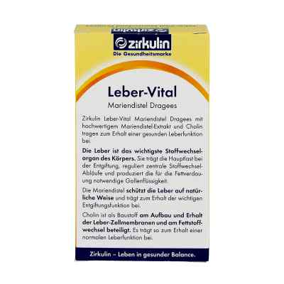 Zirkulin Leber-vital Mariendistel Dragees  bei juvalis.de bestellen