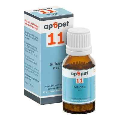 Apopet Schüssler-salz Nummer 11 Silicea D12 Globuli veterinär  bei juvalis.de bestellen