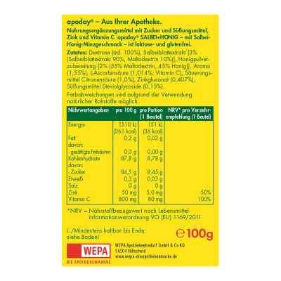 Apoday heisser Salbei+honig+vit.c+zink Pulver  bei juvalis.de bestellen