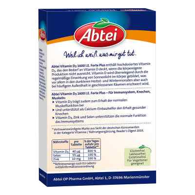 Abtei Vitamin D3 Forte Plus Tabletten  bei juvalis.de bestellen