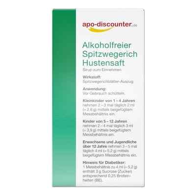 Alkoholfreier Spitzwegerich Hustensaft von apo-discounter  bei juvalis.de bestellen