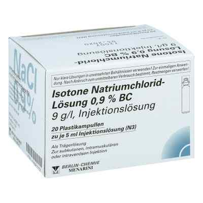 Isotone Nacl Lösung 0,9% Bc Plastik amp.inj.-lsg.  bei juvalis.de bestellen