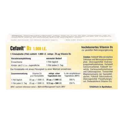 Cefavit D3 1.000 I.e. Filmtabletten  bei juvalis.de bestellen