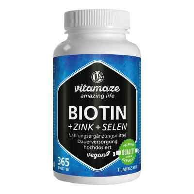 Vitamaze Biotin 10 mg hochdosiert+Zink+Selen  bei juvalis.de bestellen
