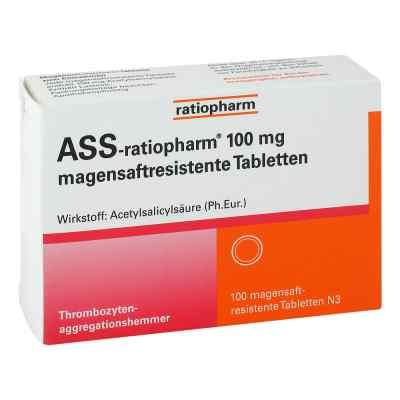 Ass ratiopharm 100 mg magensaftresistent Tabletten  bei juvalis.de bestellen