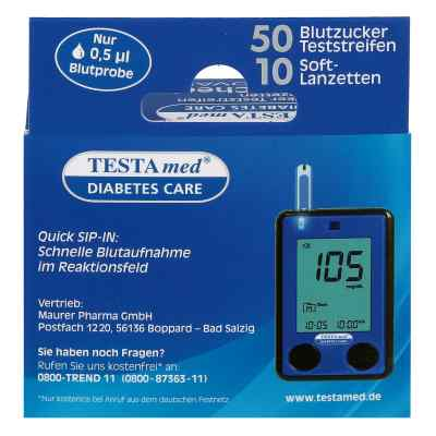 Testamed Glucocheck Advance Teststreif.m.10 Lanz.  bei juvalis.de bestellen
