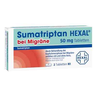 Sumatriptan Hexal bei Migräne 50 mg Tabletten  bei juvalis.de bestellen