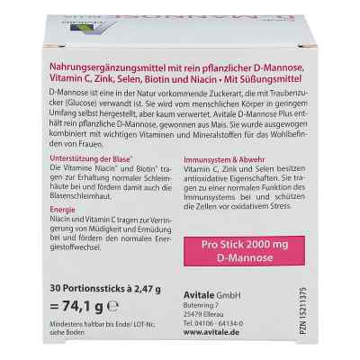 D-Mannose Plus 2000 mg mit Vitamine und Mineralstoffe Sticks  bei juvalis.de bestellen