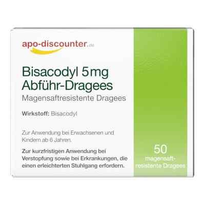 Bisacodyl 5mg Dragees von apo-discounter - bei Verstopfung  bei juvalis.de bestellen