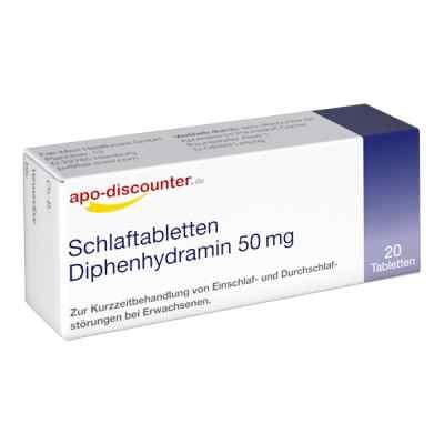Schlaftabletten Diphenhydramin apo-discounter 50 mg Tabletten  bei juvalis.de bestellen