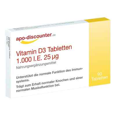 Vitamin D3 Tabletten 1000 I.e. 25 [my]g von apo-discounter  bei juvalis.de bestellen